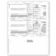 Laser 1099-MISC Tax Forms - Pressure Seal