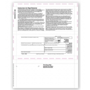 Laser 1098 Tax Forms - Copy B, Pressure Seal