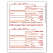 Laser Bulk 1099-INT Tax Forms, Federal Copy A