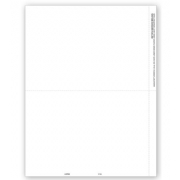 Blank Laser 1099 Tax Forms, 2-Up