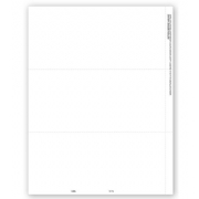 Bulk Blank Laser 1099 Tax Forms, 3-Up