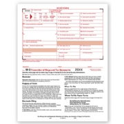 Laser W-3 Tax Forms - Transmittal of Income