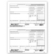 Bulk Laser W-2 Tax Forms - Employee Copy 2/Copy C