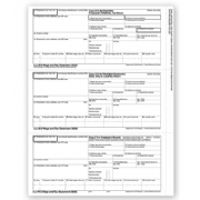 Laser W-2 Tax Forms - Horizontal Format, 3-Up