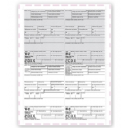 4-Up Laser W-2 Tax Forms - Pressure Seal