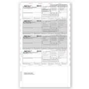 4-Up Laser W-2 Tax Forms - Horizontal, Pressure Seal