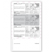 Laser 1099-R Tax Forms - Horizontal, Pressure Seal, 3-Up
