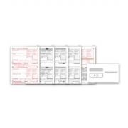 Laser W-2 Tax Forms & Envelopes, 8-Part