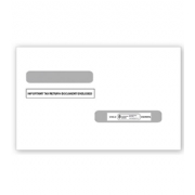 4-up W-2 & 1099-R Tax Envelopes -  Double Window