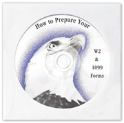 Prepare your W-2 and 1099 Forms - Tax Preparation CD