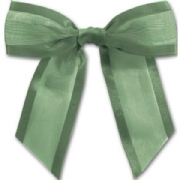 Hunter Green Organza Tied Bow