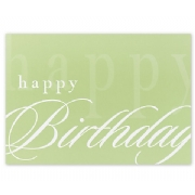 Simply Stated Birthday Card