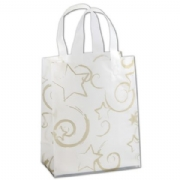 Stars Clear Plastic Shopping Bags