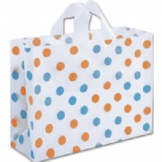 Orange and Turquoise Polka Dot Plastic Bags