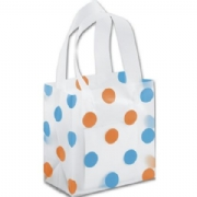 Orange & Turquoise Polka Dot Plastic Bags