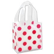 Red Dots Frosted Plastic Bags