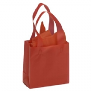 Red Frosted Plastic Shopping Bags