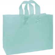 Turquoise Frosted Shopping Bags