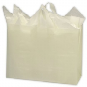 White Frosted Plastic Frosted Shopping Bags