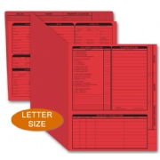 Red real estate listing folders