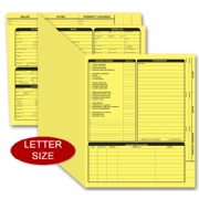 Yellow real estate folders