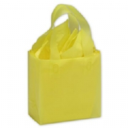 Yellow Frosted Shopping Bags