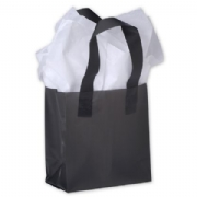 Black Frosted Plastic Shopping Bags