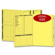 Yellow real estate folders, legal size
