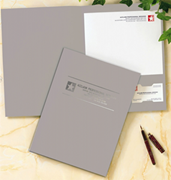 Linen Pocket Folders - Gray