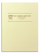 Custom Presentation Folders - Glossy Ivory
