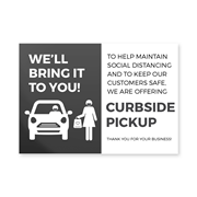 Curbside pick up poster