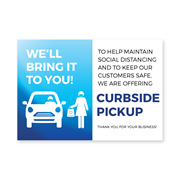 Large curbside pick up poster