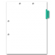 Preprinted Color-Coded Chart Dividers -