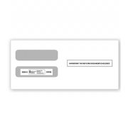 W-2 Tax Envelopes - Double-Window Envelope, Horizontal, 3-Up