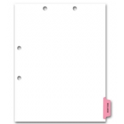 Preprinted Color-Coded Chart Dividers - Miscellaneous Tab