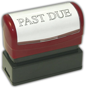 """PAST DUE"" Stamp, Pre-Inked"
