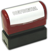"Pre-Inked Stock Stamp - ""Confidential"""