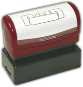 "Pre-Inked ""PAID"" Stamp with Open Box"