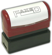 """FAXED"" Stamp, Pre-Inked"