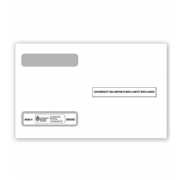 W-2 Tax Envelopes - Double-Window, Horizontal, 4-Up