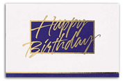 Elegant Birthday Cards - Navy/White