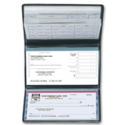 Compact business checks with deposits
