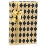 Black Diamond/ Kraft Gift Wrap