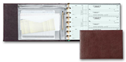 3-On-A-Page Brown Premium Vinyl 7 Ring Check Binder
