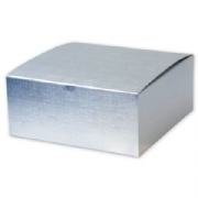 Silver Linen Foil One-Piece Gift Boxes