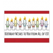 Candid Candles Birthday Card