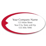 Weather resistant oval labels