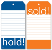 Hold & Sold Tags - Merchandise Tags