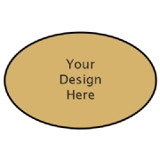 Custom oval label