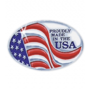 Made In America Seal Item#: FSEUS6 Size: 1 1/2 X 1""